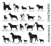 20 dog breed silhouettes  ... | Shutterstock .eps vector #1546706990