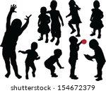 children collection   vector | Shutterstock .eps vector #154672379