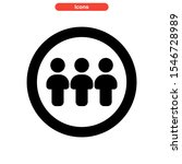 teamwork icon isolated sign... | Shutterstock .eps vector #1546728989
