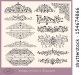 vector collection of detailed... | Shutterstock .eps vector #154674866