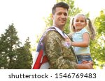 Father In Military Uniform With ...