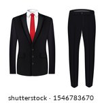 red tie  white shirt and black...   Shutterstock .eps vector #1546783670