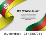 waving ribbon or banner with... | Shutterstock .eps vector #1546807763