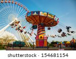 chicago   may 18  navy pier on... | Shutterstock . vector #154681154