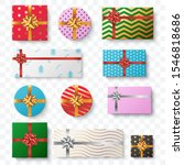 set of colorful gift box... | Shutterstock .eps vector #1546818686