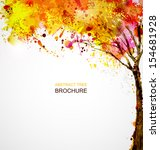 Autumn Abstract Tree Forming B...