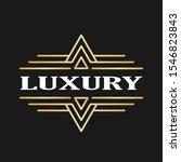 art deco vintage label design.... | Shutterstock .eps vector #1546823843