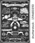 vintage hand drawn banner... | Shutterstock .eps vector #154683350