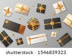 christmas gift boxes isolated... | Shutterstock .eps vector #1546839323