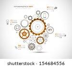 infographic design template... | Shutterstock .eps vector #154684556