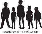 vector silhouette of children...   Shutterstock .eps vector #1546861139