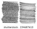 hand drawn grunge textures...   Shutterstock .eps vector #154687613