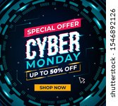 cyber monday concept in circle... | Shutterstock .eps vector #1546892126