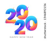 happy new year 2020 colorful... | Shutterstock .eps vector #1546892156