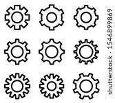 set of gear icon. symbol of...