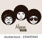 hippies design over beige...