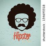 hipster design over blue...   Shutterstock .eps vector #154695518