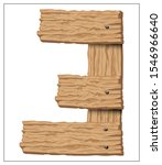 vector wooden number. stylized... | Shutterstock .eps vector #1546966640