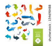 colorful vector arrows set... | Shutterstock .eps vector #154698488