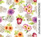 flower print. elegance seamless ... | Shutterstock .eps vector #1546985630