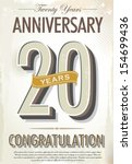 20 years anniversary retro... | Shutterstock .eps vector #154699436