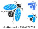 fly insect composition of small ... | Shutterstock .eps vector #1546994753