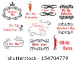 calligraphic and vintage...   Shutterstock .eps vector #154704779
