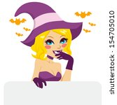 naughty blonde woman with... | Shutterstock . vector #154705010