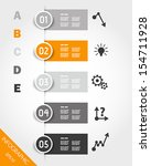 orange infographic stickers... | Shutterstock .eps vector #154711928