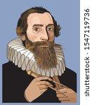 johannes kepler vector portrait.... | Shutterstock .eps vector #1547119736