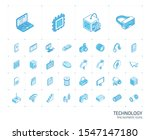 isometric line icon set. 3d... | Shutterstock .eps vector #1547147180