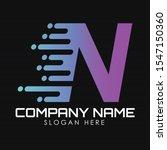 speed letter n logo design...   Shutterstock .eps vector #1547150360