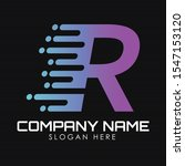 speed letter r logo design...   Shutterstock .eps vector #1547153120