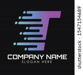speed letter t logo design...   Shutterstock .eps vector #1547154689