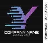 speed letter y logo design...   Shutterstock .eps vector #1547157929