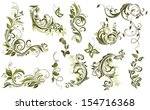 Stock vector vintage olive design elements 154716368