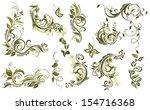 vintage olive design elements   Shutterstock .eps vector #154716368