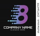 speed number 8 logo design...   Shutterstock .eps vector #1547164799