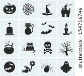 Stock vector collection of halloween icons vector illustration 154716746