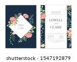 mix flowers watercolor wedding... | Shutterstock . vector #1547192879