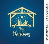 birth of christ scene card.... | Shutterstock .eps vector #1547219216
