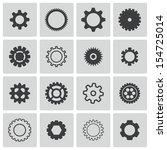 vector black  gears  icons set   Shutterstock .eps vector #154725014