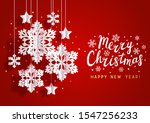 christmas greeting card with...   Shutterstock .eps vector #1547256233