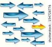 arrow  direction 3d graphics | Shutterstock .eps vector #154728776