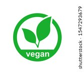vegan icon product vector image.... | Shutterstock .eps vector #1547293679