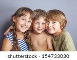 beautiful portrait of two... | Shutterstock . vector #154733030