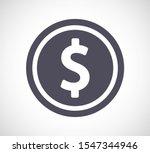 Vector Icon Coin. Lorem Ipsum...