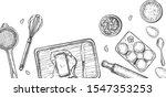 vector illustration of baking... | Shutterstock .eps vector #1547353253