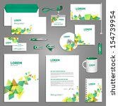 creative stationery template... | Shutterstock .eps vector #154739954