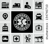 hospital icons | Shutterstock .eps vector #154740710
